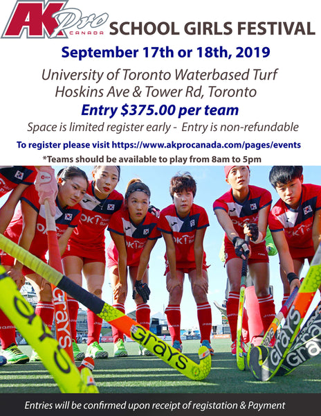 Toronto School Girls Field Hockey Festival 2019 Akpro Canada