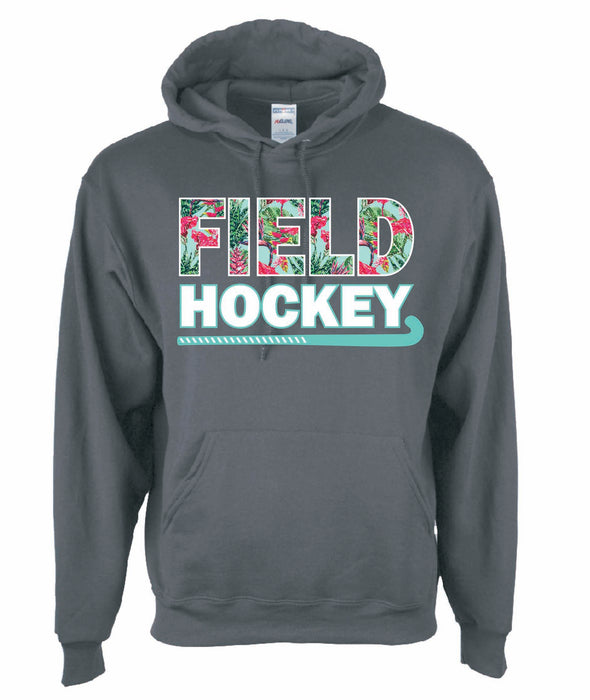 Field Hockey Hooded Top with Floral Print