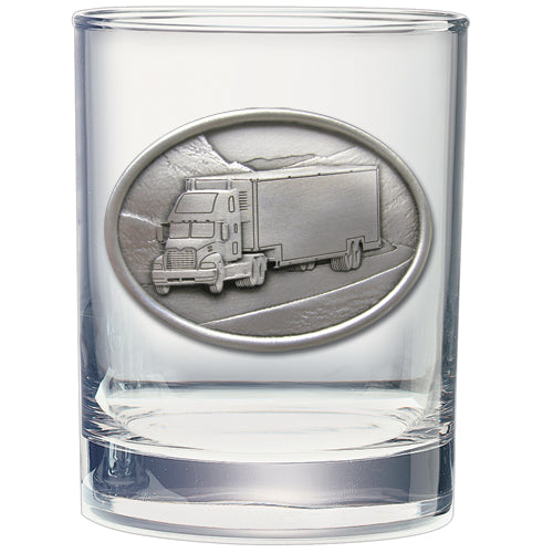 Pewter truck with  coffee mug ornament capitol decanters flask double old fashioned glass stein and travel mug