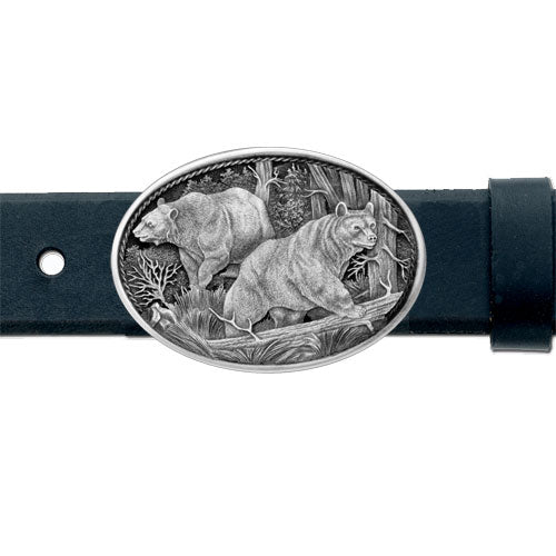 BLACK BEAR BELT BUCKLE
