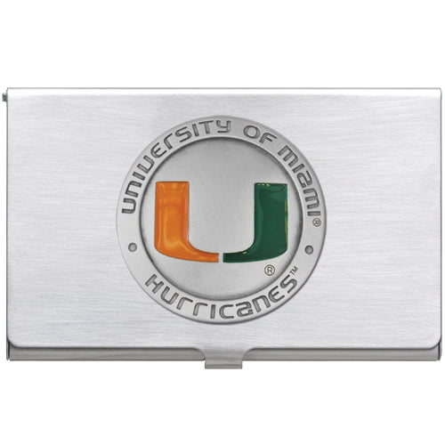 UNIVERSITY OF MIAMI BUSINESS CARD CASE