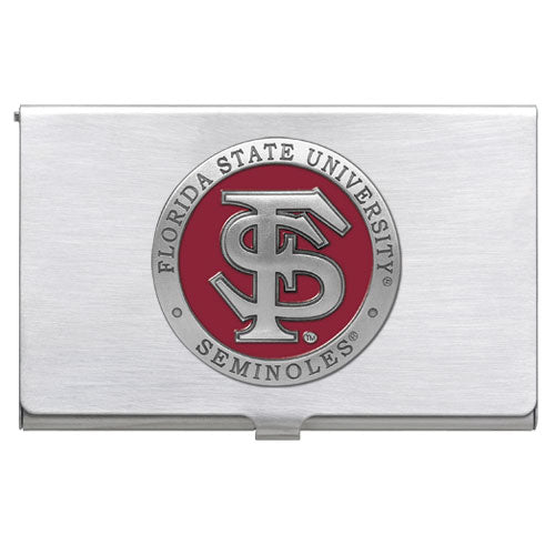 FLORIDA STATE UNIVERSITY FS LOGO BUSINESS CARD CASE