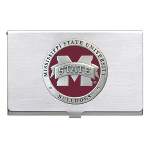 "MISSISSIPPI STATE UNIVERSITY ""M"" LOGO BUSINESS CARD CASE"