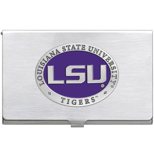 LSU LOUISIANA STATE UNIVERSITY BUSINESS CARD CASE