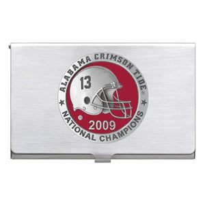 UNIVERSITY OF ALABAMA NATIONAL CHAMPIONS 2009 BUSINESS CARD CASE