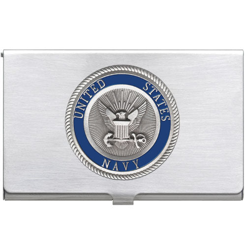 NAVY BUSINESS CARD CASE