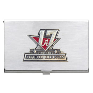 UNIVERSITY OF ALABAMA NATIONAL CHAMPIONS 2017 BUSINESS CARD CASE