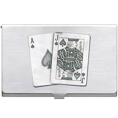 BLACK JACK BUSINESS CARD CASE