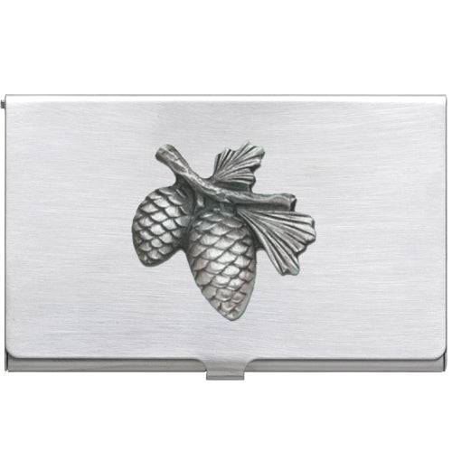 PINE CONE BUSINESS CARD CASE