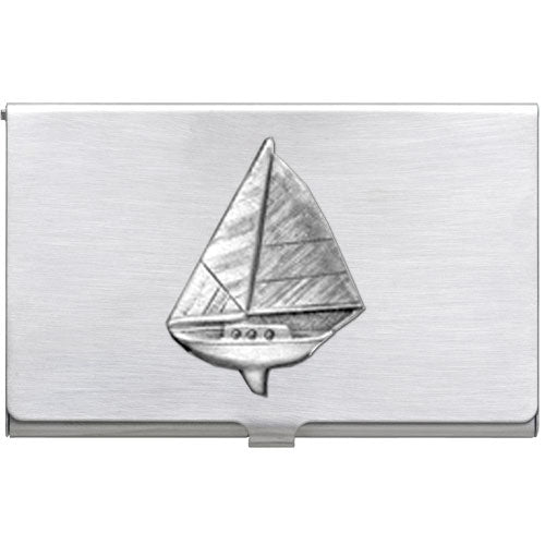 SAIL BOAT BUSINESS CARD CASE