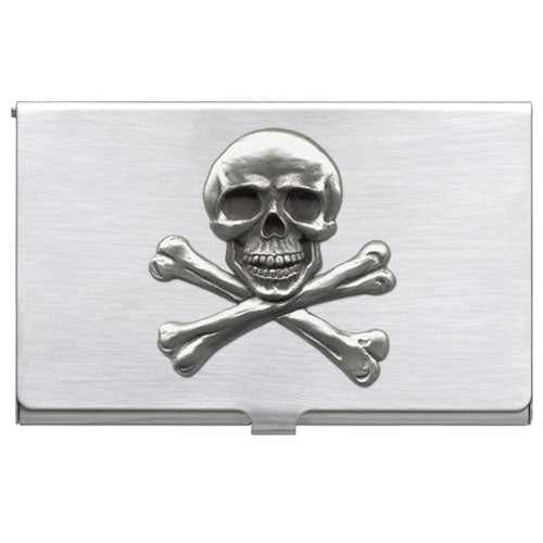 SKULL AND BONES BUSINESS CARD CASE