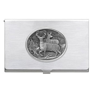 WHITETAIL DEER BUSINESS CARD CASE