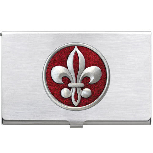 FLEUR DE LIS #2 BUSINESS CARD CASE