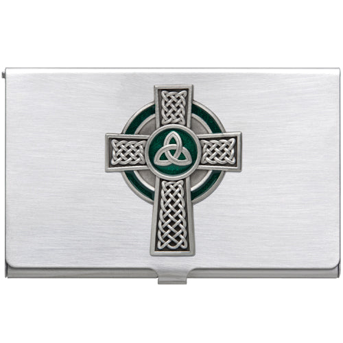 CELTIC CROSS BUSINESS CARD CASE