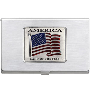 US FLAG BUSINESS CARD CASE
