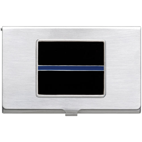 THIN BLUE LINE BUSINESS CARD CASE