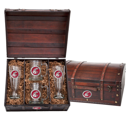WASHINGTON STATE UNIVERSITY BEER CHEST SET