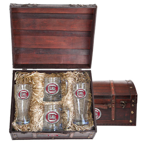 UNIVERSITY OF SOUTH CAROLINA FIGHTING GAMECOCKS BEER CHEST SET