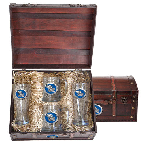 UNIVERSITY OF KANSAS BEER CHEST SET