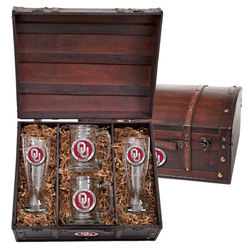 UNIVERSITY OF OKLAHOMA BEER CHEST SET