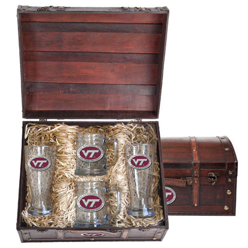 VIRGINIA TECH UNIVERSITY VT LOGO BEER CHEST SET
