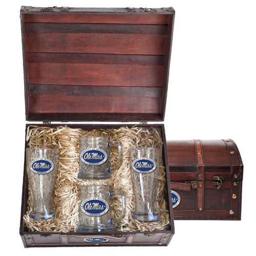 UNIVERSITY OF MISSISSIPPI BEER CHEST SET