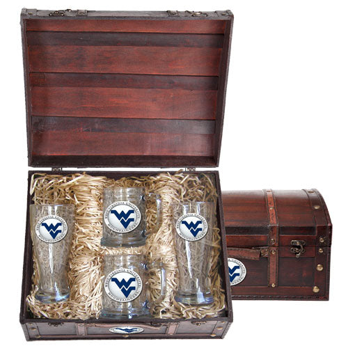 WEST VIRGINIA UNIVERSITY WV LOGO BEER CHEST SET