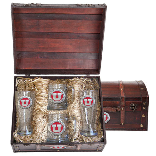 UNIVERSITY OF UTAH BEER CHEST SET