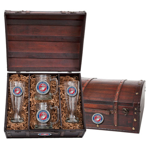 MARINE CORPS BEER CHEST SET