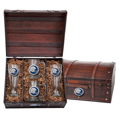 WEST VIRGINIA UNIVERSITY HELMET BEER CHEST SET