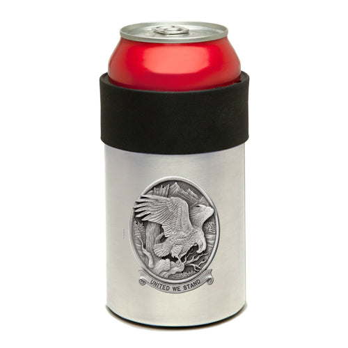 BALD EAGLE W/ UNITED WE STAND CAN COOLER