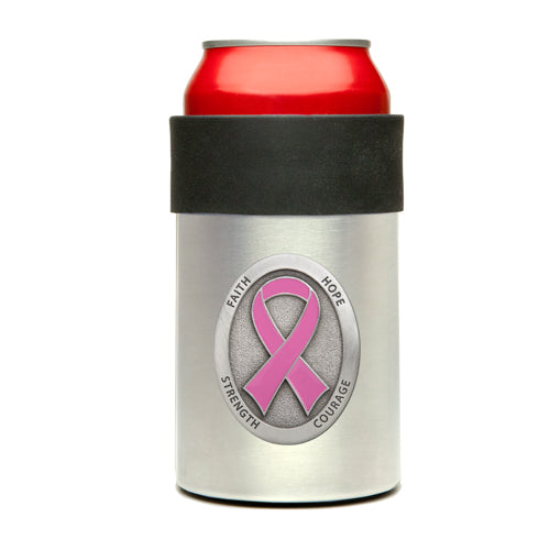 PINK RIBBON CAN COOLER