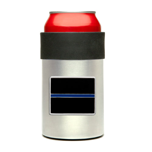 THIN BLUE LINE CAN COOLER