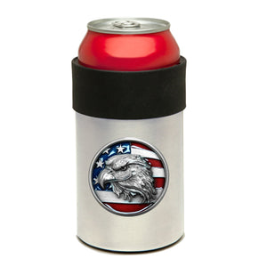 EAGLE HEAD W/ FLAG CAN COOLER