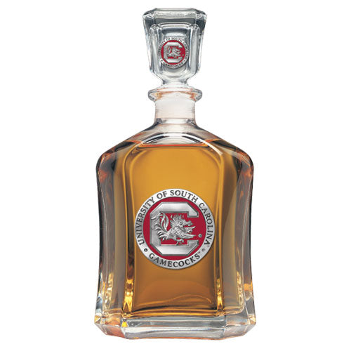 UNIVERSITY OF SOUTH CAROLINA FIGHTING GAMECOCKS LOGO CAPITOL DECANTER