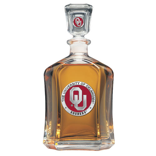 UNIVERSITY OF OKLAHOMA CAPITOL DECANTER
