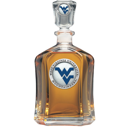 WEST VIRGINIA UNIVERSITY WV LOGO CAPITOL DECANTER