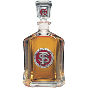 FLORIDA STATE UNIVERSITY FS LOGO CAPITOL DECANTER
