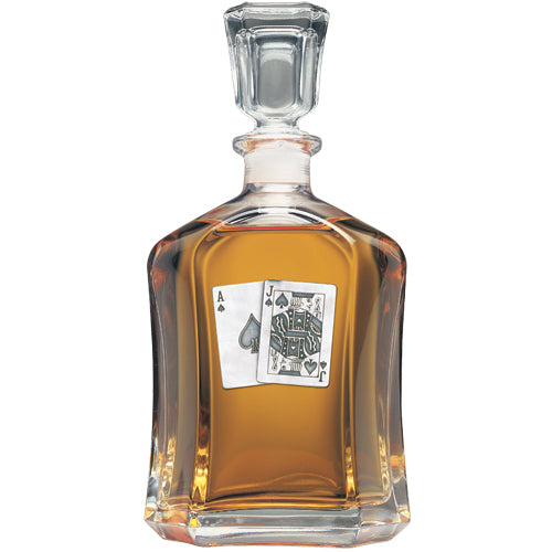 BLACK JACK CAPITOL DECANTER