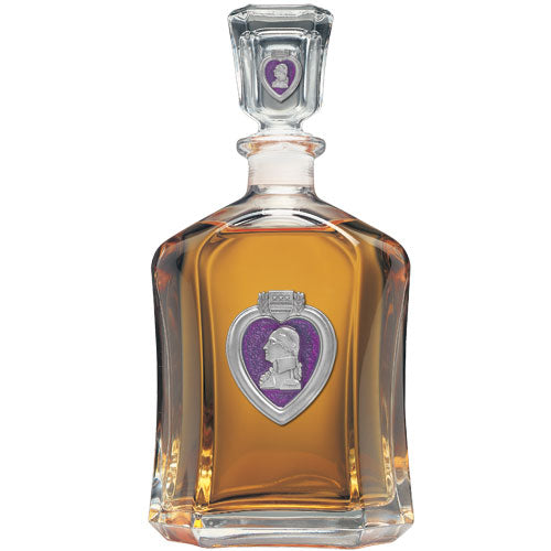 PURPLE HEART CAPITOL DECANTER