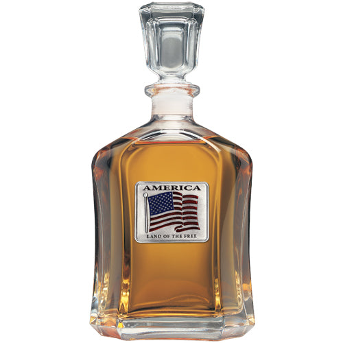 US FLAG CAPITOL DECANTER