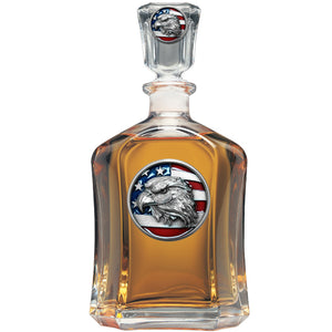 EAGLE HEAD W/ FLAG CAPITOL DECANTER