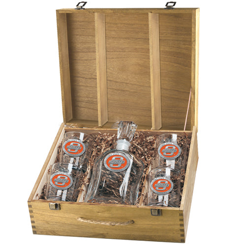 OKLAHOMA STATE UNIVERSITY CAPITOL DECANTER BOX SET