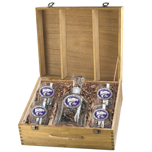 KANSAS STATE UNIVERSITY CAPITOL DECANTER BOX SET