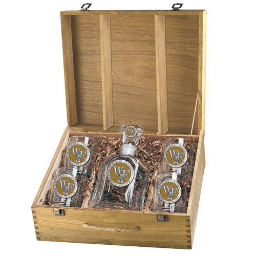 WAKE FOREST UNIVERSITY CAPITOL DECANTER BOX SET