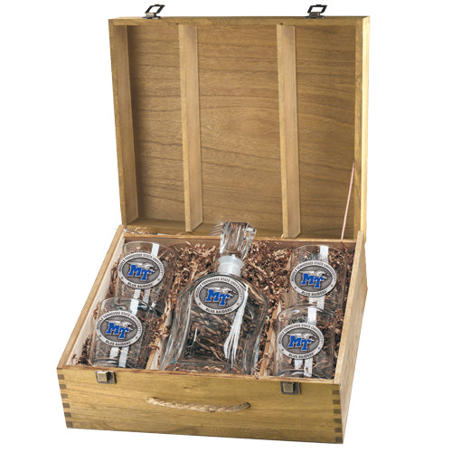 MIDDLE TENNESSEE STATE UNIVERSITY CAPITOL DECANTER BOX SET
