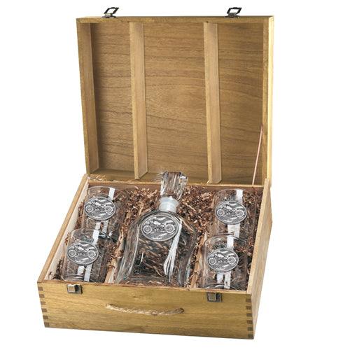MOTORCYCLE CAPITOL DECANTER BOX SET