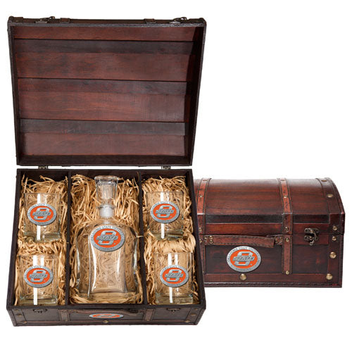 OKLAHOMA STATE UNIVERSITY CAPITOL DECANTER CHEST SET