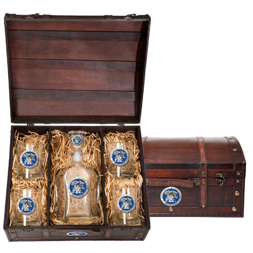 UNIVERSITY OF KENTUCKY CAPITOL DECANTER CHEST SET