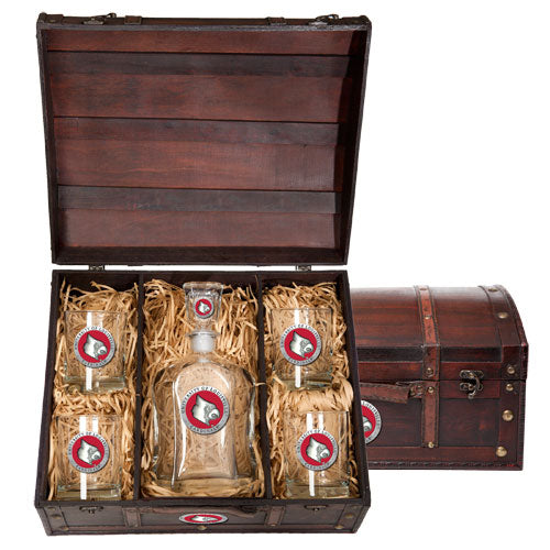 UNIVERSITY OF LOUISVILLE CAPITOL DECANTER CHEST SET